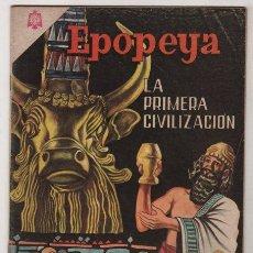 Tebeos: EPOPEYA # 76 LA PRIMER CIVILIZACION, LOS SUMERIOS NOVARO 1964 EXCELENTE ESTADO. Lote 38982415