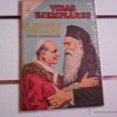 Tebeos: VIDAS EJEMPLARES EXTRAORDINARIO ABRIL DE 1964. EL PAPA VISITA TIERRA SANTA. Lote 40050672