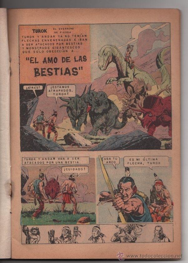 Tebeos: AVENTURA TUROK # 525 NOVARO & TUROK # 56 GOLD KEY, ESPAÑOL E INGLES MISMO COMIC - Foto 6 - 40139872