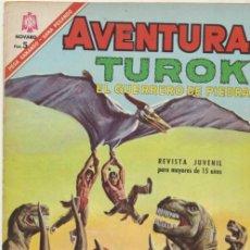 Tebeos: AVENTURA Nº 461. TUROK EL GUERRERO DE PIEDRA. NOVARO 1966.. Lote 40406843