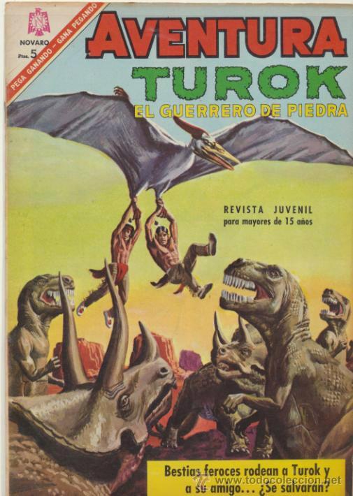 AVENTURA Nº 461. TUROK EL GUERRERO DE PIEDRA. NOVARO 1966. (Tebeos y Comics - Novaro - Aventura)