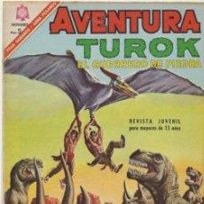 Tebeos: AVENTURA Nº 461. TUROK EL GUERRERO DE PIEDRA. NOVARO 1966.. Lote 40407143