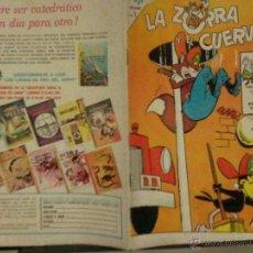 Tebeos: LA ZORRA Y EL CUERVO EDITORIAL NOVARO Nº 183 - AÑO 1965. Lote 41120652