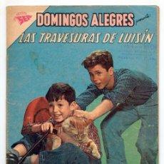 Tebeos: DOMINGOS ALEGRES - Nº 376 - LAS TRAVESURAS DE LUISÍN - SEA - 1961. Lote 41493254