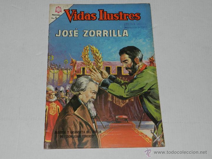 (M-21) VIDAS ILUSTRES - JOSE ZORRILLA , NUM 128 , EDT NOVARO 1965 , SEÑALES DE USO (Tebeos y Comics - Novaro - Vidas ilustres)
