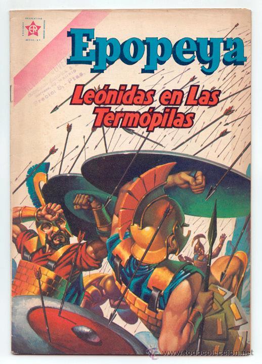 EPOPEYA - Nº 42 - LEÓNIDAS EN LAS TERMÓPILAS - ED. RECREATIVAS MEXICO - 1961 (Tebeos y Comics - Novaro - Epopeya)