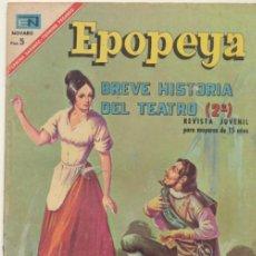 Tebeos: EPOPEYA Nº 110. BREVE HISTORIA DEL TEATRO (2). NOVARO 1967.. Lote 42178178