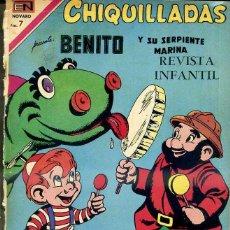 Tebeos: CHIQUILLADAS NOVARO Nº 272 : BENITO Y SU SERPIENTE MARINA. Lote 42249684