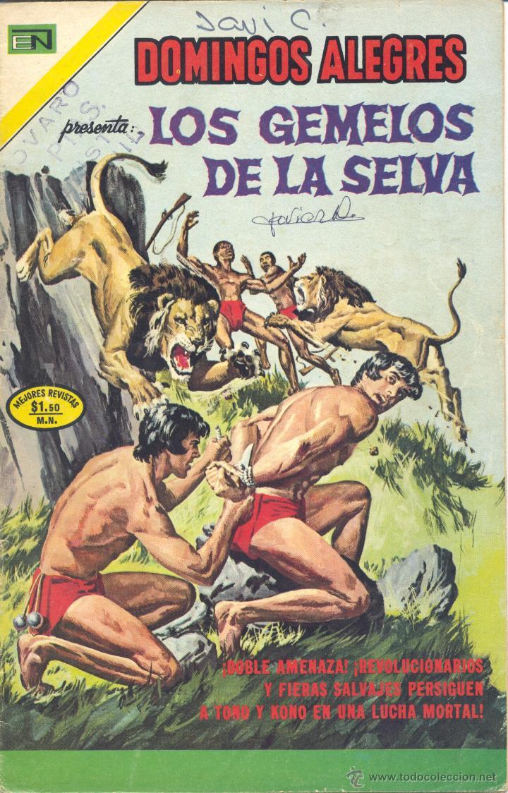 LOS GEMELOS DE LA SELVA. DOMINGOS ALEGRES Nº1022. NOVARO, 1973 (Tebeos y Comics - Novaro - Domingos Alegres)