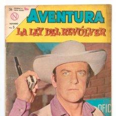 Tebeos: AVENTURA - Nº 310 - LA LEY DEL REVÓLVER - ED. NOVARO - 1963. Lote 42918271