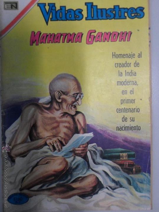 MAHATMA GANDHI. VIDAS ILUSTRES NOVARO. NÚMERO ESPECIAL 1969. ESPECIAL. (Tebeos y Comics - Novaro - Vidas ilustres)