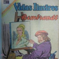 Tebeos: VIDAS ILUSTRES NOVARO - REMBRANDT. # 205 - AÑO 1969.. Lote 43122120