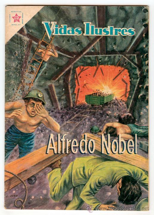 VIDAS ILUSTRES - Nº 42 - ALFREDO NOBEL - ED. RECREATIVAS MEXICO - 1959 (Tebeos y Comics - Novaro - Vidas ilustres)