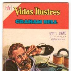 Tebeos: VIDAS ILUSTRES - Nº 75 - GRAHAM BELL - ED. RECREATIVAS MEXICO - 1962. Lote 43156661