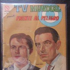 Tebeos: TV MUNDIAL Nº 28 FRENTE AL PELIGRO EDITORIAL NOVARO. Lote 43275714