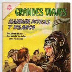 Tebeos: GRANDES VIAJES # 41 LOS NAVEGANTES HANNON, PITEAS & NEARCO NOVARO 1966 EXCELENTE. Lote 44225974