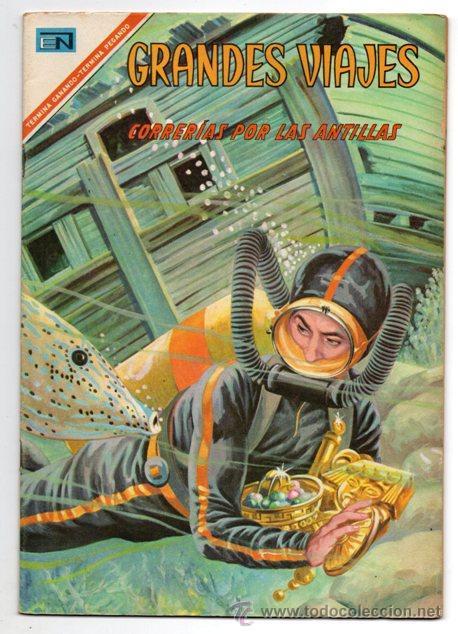 GRANDES VIAJES # 52 CORRERIAS POR LAS ANTILLAS NOVARO 1967 IMPECABLE (Tebeos y Comics - Novaro - Grandes Viajes)