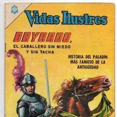 Tebeos: VIDAS ILUSTRES # 133 BAYARDO EL CABALLERO SIN MIEDO NOVARO 1966 MUY BUEN ESTADO. Lote 44226123