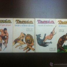 Tebeos: INTERESANTE LOTE DE 4 LIBROS DE TARZAN - EDAGAR RICE BURROUGHS - Nº 5,7,9 Y 11 -BARCELONA - 1975 -. Lote 44331102