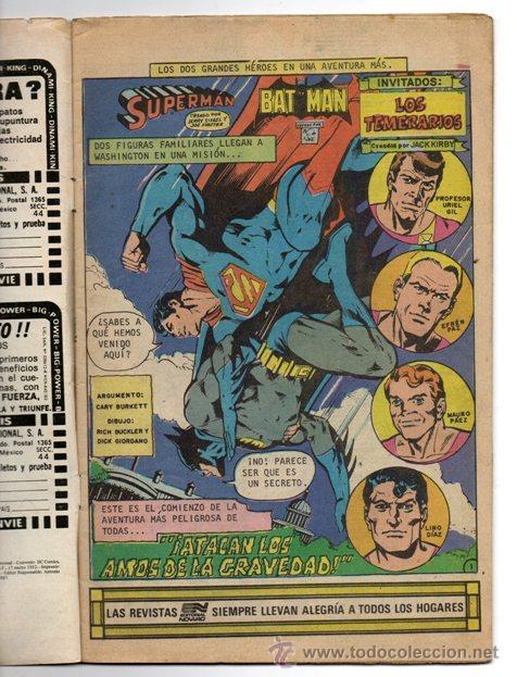Tebeos: SUPERMAN # 3-88 NOVARO AVESTRUZ 1982 JACK KIRBY DICK GIORDANO LOS TEMERARIOS MUY BUEN ESTADO - Foto 2 - 44347052