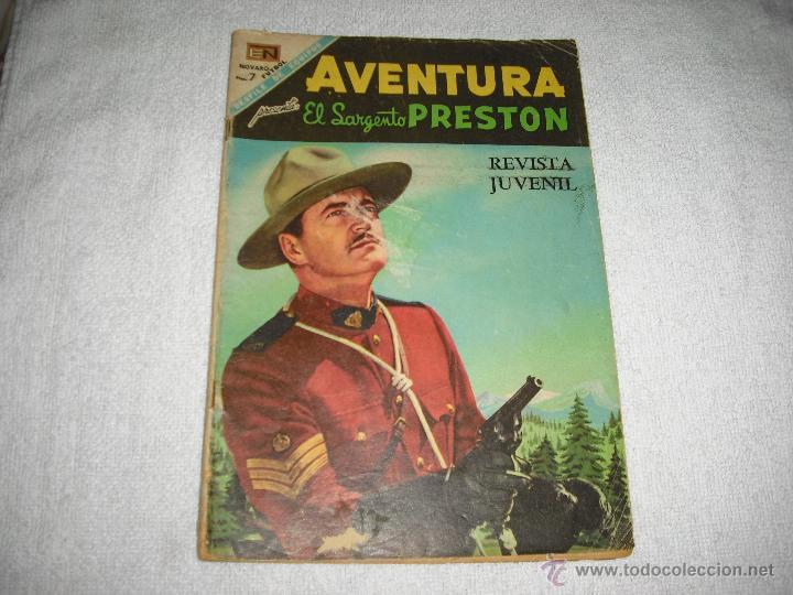 AVENTURA, EL SARGENTO PRESTON Nº 535 1968 (Tebeos y Comics - Novaro - Aventura)