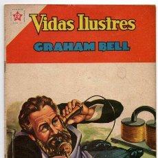 Tebeos: VIDAS ILUSTRES # 75 GRAHAM BELL HISTORIA DEL TELEFONO NOVARO 1962 EXCELENTE. Lote 44765921