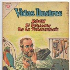 Tebeos: VIDAS ILUSTRES # 79 KOCH VENCE LA TUBERCULOSIS NOVARO 1962 BUEN ESTADO. Lote 44765942