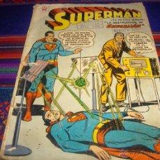 Tebeos: SUPERMAN Nº 167. NOVARO 1958. LA DESTRUCCIÓN DE SUPERMAN. Lote 44820044