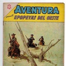 Tebeos: AVENTURA # 402 EPOPEYAS DEL OESTE NOVARO 1965 MUY BUEN ESTADO. Lote 44876196