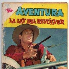 Tebeos: AVENTURA # 302 LA LEY DEL REVOLVER NOVARO 1963 CON DETALLES. Lote 44876389