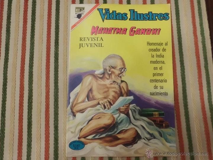MAHATMA GANDHI NUMERO ESPECIAL EDITORIAL NOVARO (Tebeos y Comics - Novaro - Vidas ilustres)