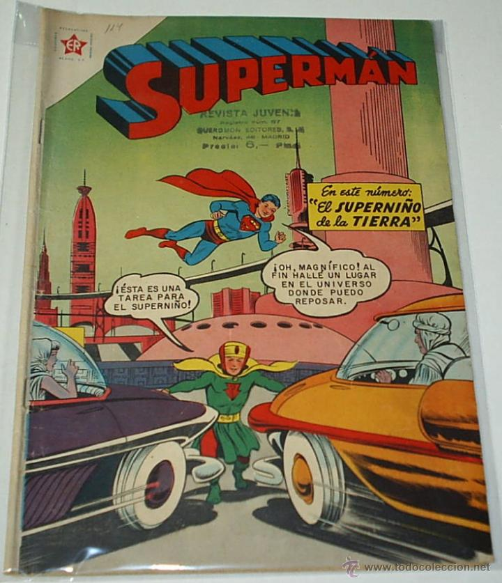 SUPERMAN Nº 114 - NOVARO ORIGINAL - BUEN ESTADO (Tebeos y Comics - Novaro - Superman)