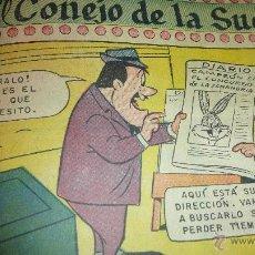 Tebeos: LOTE 20 TEBEOS BUGS BUNNY NOVARO CONEJO DE LA SUERTE . ENCUADERNADOS PATO LUCAS. Lote 46160139
