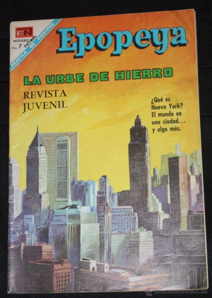 EPOPEYA Nº 119 : LA URBE DE HIERRO (NUEVA YORK). DIFICIL Y EN BUEN ESTADO. (Tebeos y Comics - Novaro - Epopeya)
