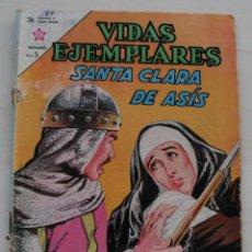 Tebeos: VIDAS EJEMPLARES: SANTA CLARA DE ASIS – REVISTA COMIC ILUSTARDA CON VIÑETAS A COLOR - 1963. Lote 50151366