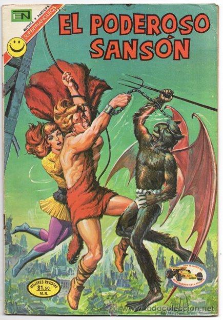 EL PODEROSO SANSON # 1 NOVARO 1972 ANGELES INFERNALES MIGHTY SAMSON EXCELENTE (Tebeos y Comics - Novaro - Sci-Fi)