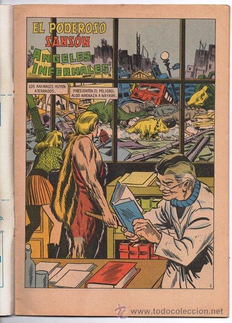 Tebeos: EL PODEROSO SANSON # 1 NOVARO 1972 ANGELES INFERNALES MIGHTY SAMSON EXCELENTE - Foto 2 - 47719451