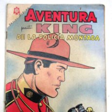 Tebeos: ANTIGUA REVISTA COMIC AVENTURA PRESENTA : KING DE LA POLICIA MONTADA NOVARO MEXICO AÑO 1964. Lote 47763790