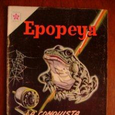 Tebeos: EPOPEYA N° 62 - LA CONQUISTA DE LA ELECTRICIDAD - ORIGINAL EDITORIAL NOVARO. Lote 47930435