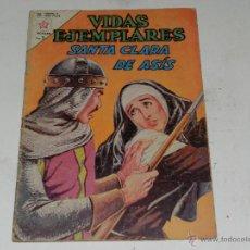 Tebeos: (M-23) VIDAS EJEMPLARES SANTA CLARA DE ASIS NUM 160, EDT NOVARO 1963, SEÑALES DE USO. Lote 48300267