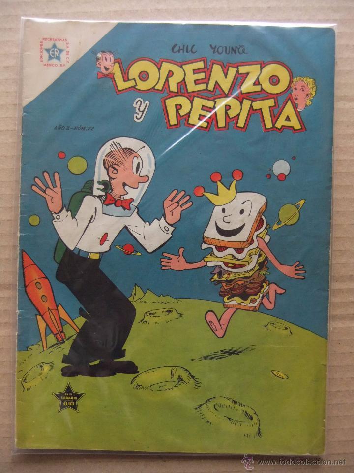 LORENZO Y PEPITA Nº 22 EDICIONES RECREATIVAS (NOVARO) JULIO DE 1954 (Tebeos y Comics - Novaro - Otros)