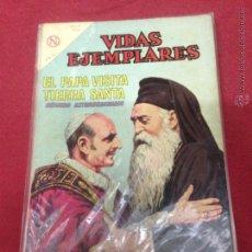 Tebeos: VIDAS EJEMPLARES EXTRAORDINARIO - EL PAPA VISITA TIERRA SANTA. Lote 49186697