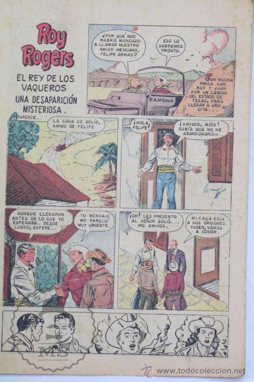 Tebeos: Cómic Roy Rogers. Una Desaparición Misteriosa. Nº 198 - Ed. Novaro - Medidas 25,5 x 17 Cm - Foto 2 - 49190019
