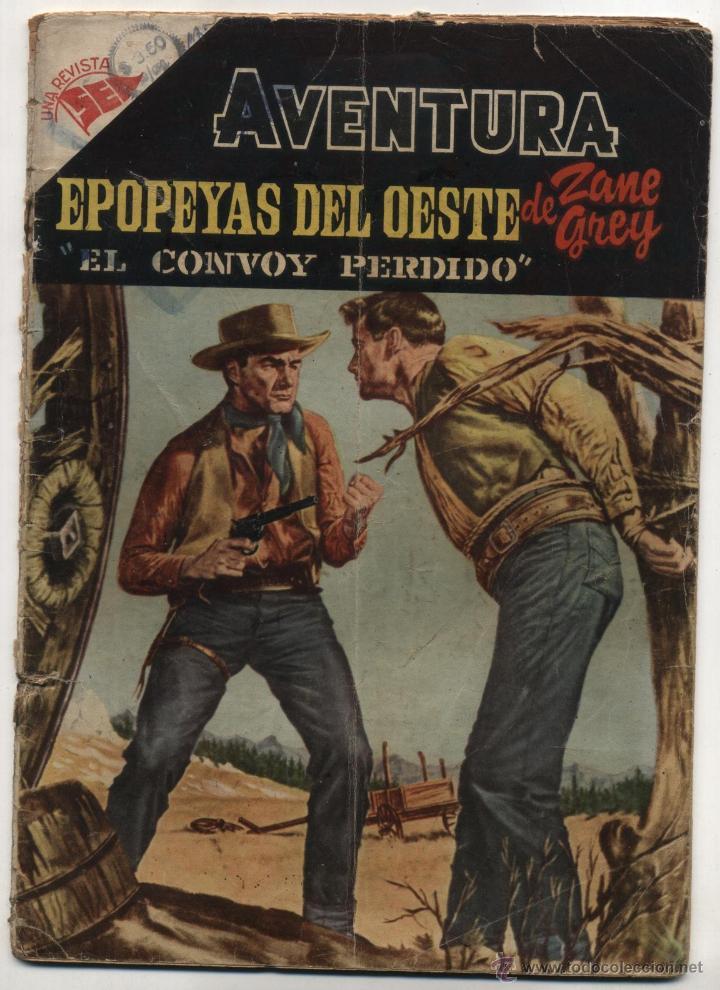 AVENTURA Nº 16. EPOPEYAS DEL OESTE. NOVARO 1955. RARO. (Tebeos y Comics - Novaro - Aventura)