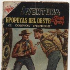 Tebeos: AVENTURA Nº 16. EPOPEYAS DEL OESTE. NOVARO 1955. RARO.. Lote 49232386