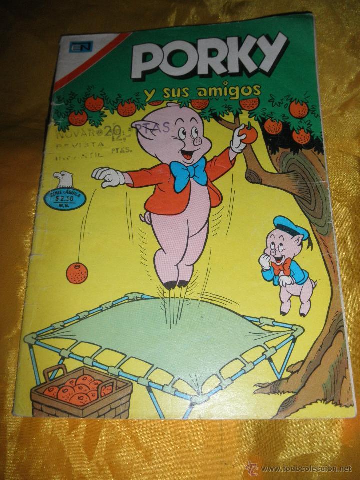 PORKY Y SUS AMIGOS. SERIE AGUILA, Nº 377, 1975. EDITORIAL NOVARO. * (Tebeos y Comics - Novaro - Porky)