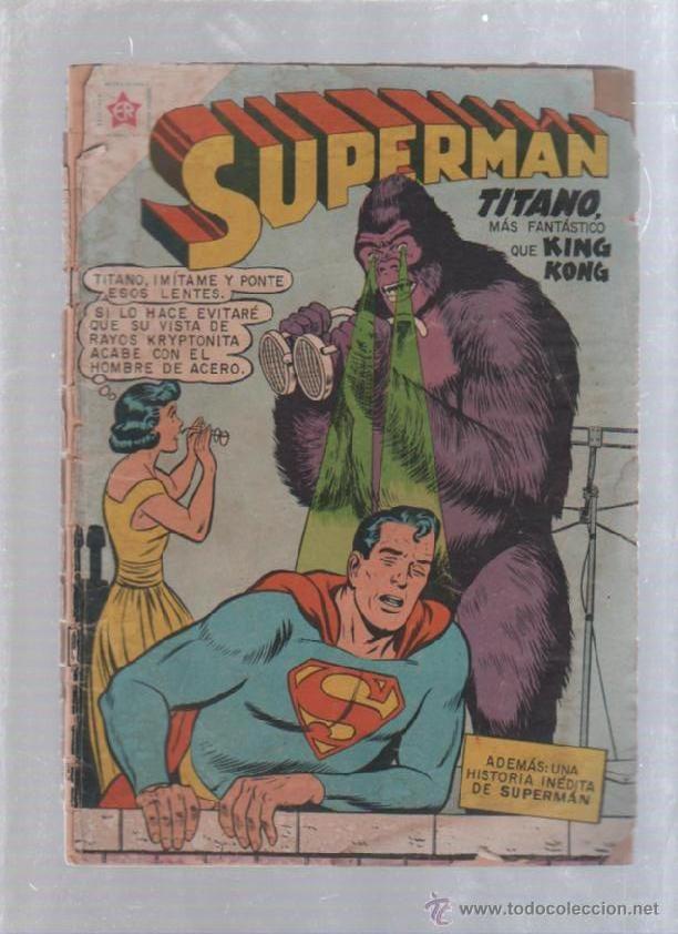 TEBEO SUPERMAN. AÑO VIII. Nº 219. DICIEMBRE 1959. TITANO MAS FANTASTICO QUE KING KONG. NOVARO (Tebeos y Comics - Novaro - Superman)