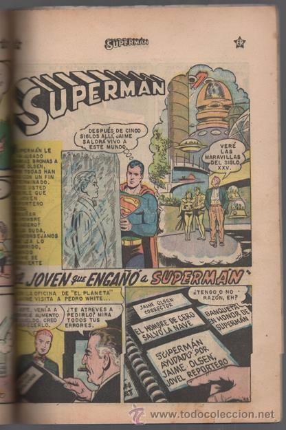 Tebeos: SUPERMAN # EXTRAORDINARIO 96 PAG NOVARO 1959 TOMAS MAÑANA AQUAMAN FLECHA VERDE CONGO BILL BUEN ESTAD - Foto 3 - 50665896