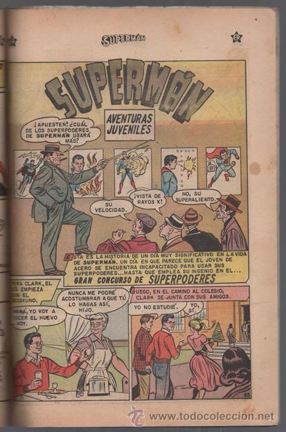 Tebeos: SUPERMAN # EXTRAORDINARIO 96 PAG NOVARO 1959 TOMAS MAÑANA AQUAMAN FLECHA VERDE CONGO BILL BUEN ESTAD - Foto 4 - 50665896