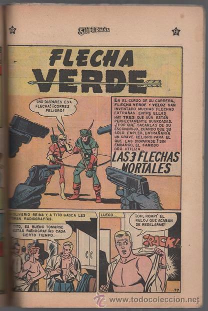 Tebeos: SUPERMAN # EXTRAORDINARIO 96 PAG NOVARO 1959 TOMAS MAÑANA AQUAMAN FLECHA VERDE CONGO BILL BUEN ESTAD - Foto 5 - 50665896